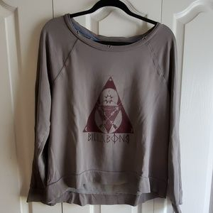 Billabong Distressed Grey Illuminati Sweatshirt L